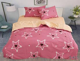 Комплект постельного белья полуторный с компаньоном S423 сатин люкс