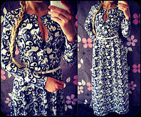 Женское модное платье в пол на пуговицах, фото 1