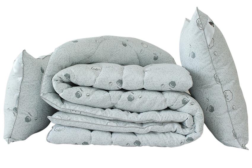 "ТМ TAG Одеяло лебяжий пух ""Cotton"" 2-сп. + 2 подушки 70х70"