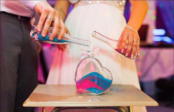 Цветной песок для свадьбы (песочная церемония)