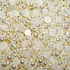 Полубусины кремовые перламутровые, 4 мм