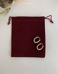 Подарочная упаковка, мешочек бархатный бордовый под украшения и бижутерию