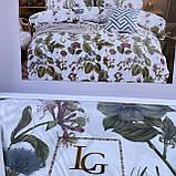 Евро размера сатиновый комплект постельного белья  200*230, фото 2