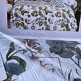 Евро размера сатиновый комплект постельного белья  200*230, фото 4