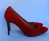 Классические женские туфли лодочки из натурального замша, разные цвета, фото 2