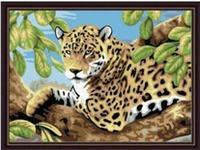 "Раскраска по номерам ""Леопард"" 30*40"