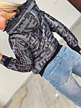 Жіноча стильна брендовий куртка з капюшоном,3 кольори, розміри: 38,40,42,44 євро, 4 кольори., фото 6