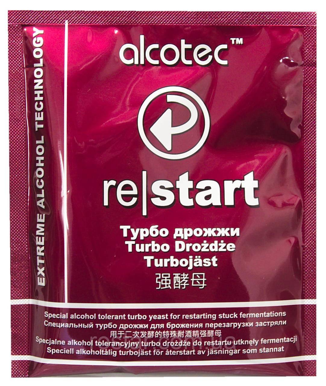 Дріжджі Турбо Alcotec Restart (49г) для перезапуску сусла, яке передчасно перестало працювати