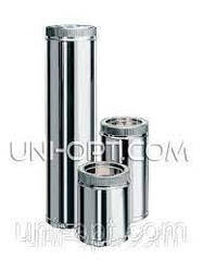 Труба дымоходная утепленная нерж/оцинк 0,5м AISI201
