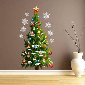 Декоративна наклейка Новий рік ялинка