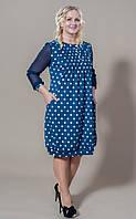 Стильное женское платье батальных размеров Муза 101-2 (С.Л.З.)