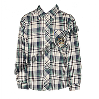 DR103. Котоновая рубашка с длинным рукавом  для мальчиков (3-7 лет) оптом в Одессе.