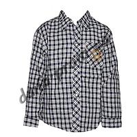 DR104. Котоновая рубашка с длинным рукавом  для мальчиков (3-7 лет) оптом в Одессе.