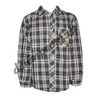 DR105. Котоновая рубашка с длинным рукавом  для мальчиков (3-7 лет) оптом в Одессе.