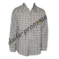 DR107. Котоновая рубашка с длинным рукавом  для мальчиков (3-7 лет) оптом в Одессе.