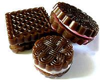 """Натуральное мыло """"Печенье шоколадное асорти""""(3шт.)"""