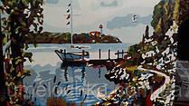 "Готовая картина по номерам ""Причал на заливе"" 40 х 50 см(UMG520)"