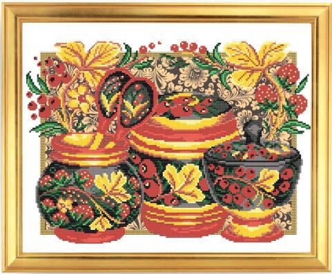 """Рисунок на ткани для вышивания бисером """"Хохлома"""", фото 2"""
