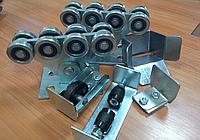 Фурнітура для відкатних (зсувних) воріт Алютех, до 450 кг з неоцинкованої шиною, фото 1