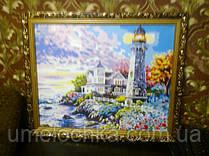"""Готовая картина по номерам Идейка """"Дом у маяка"""" 40*50"""