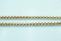 Эксклюзивная ювелирная цепь с позолотой. Позолоченная бижутерия недорого оптом. 3