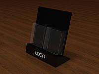 Буклетница настольная из черного оргстекла