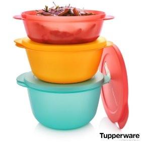 """Набір контейнерів для розігріву """"Нова хвиля"""" 1л/1,5 л/2л Tupperware"""