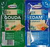 Сыр нарезанный твердый Ser Gouda & Edam Mlekpol Спайка из двух сыров Гауда и Эдам 2*250 г Польша, фото 4