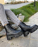 Зимові черевики на платформі з натуральної шкіри, фото 3
