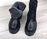 Зимові черевики на платформі з натуральної шкіри, фото 2