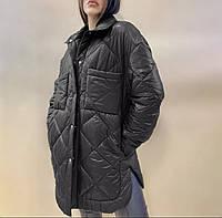 Куртка стеганая женская осенняя черная