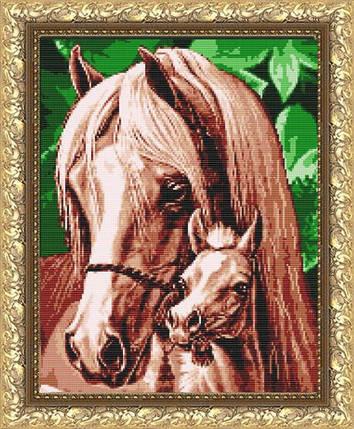 """Рисунок на ткани для вышивания бисером """"Мамина любовь (Лошади)"""", фото 2"""