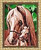 """Рисунок на ткани для вышивания бисером """"Мамина любовь (Лошади)"""""""