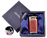 Запальничка в подарунковій коробці Україна (Гостре полум'я) №UA-32 Gold