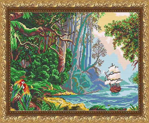 """Рисунок на ткани для вышивания бисером """"Голубая лагуна"""", фото 2"""
