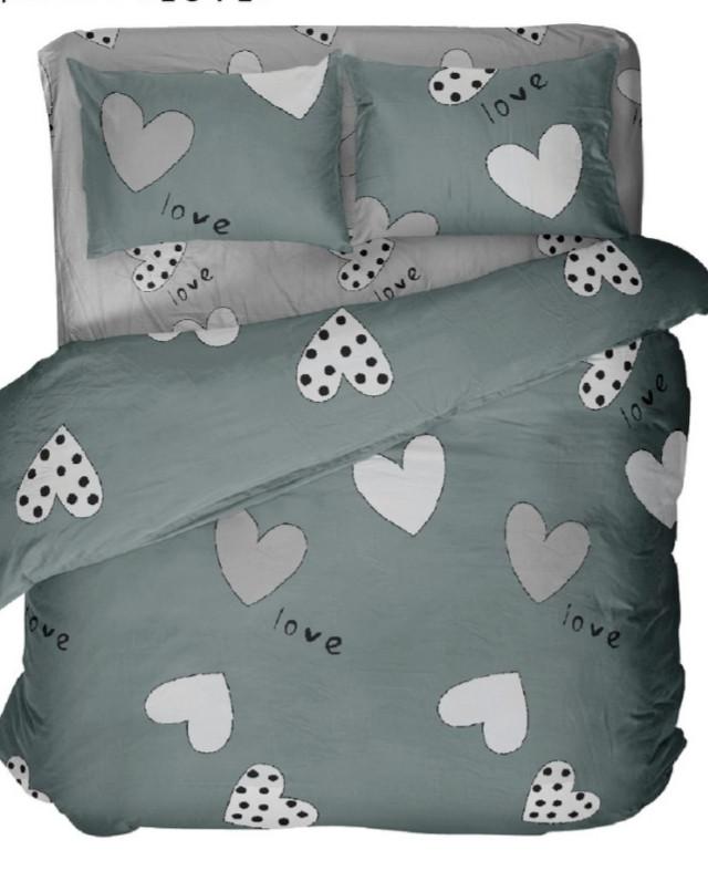 Комплект постельного белья полуторный  LOVE ( нав. 70*70)