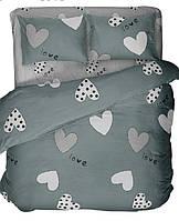 Комплект постельного белья евро LOVE ( нав. 70*70)