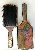 Массажная щётка Salon квадрат перламутр