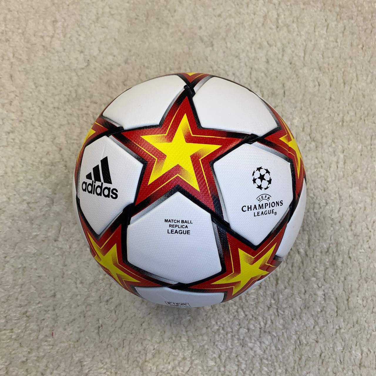 Мяч Лиги Чемпионов 2021-2022 бело-оранжевый №5