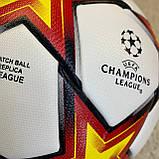 Мяч Лиги Чемпионов 2021-2022 бело-оранжевый №5, фото 2