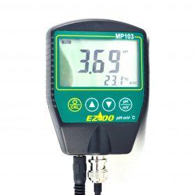 РН-метр для твердых поверхностей EZODO MP-103F с выносным электродом PF47 и термодатчиком