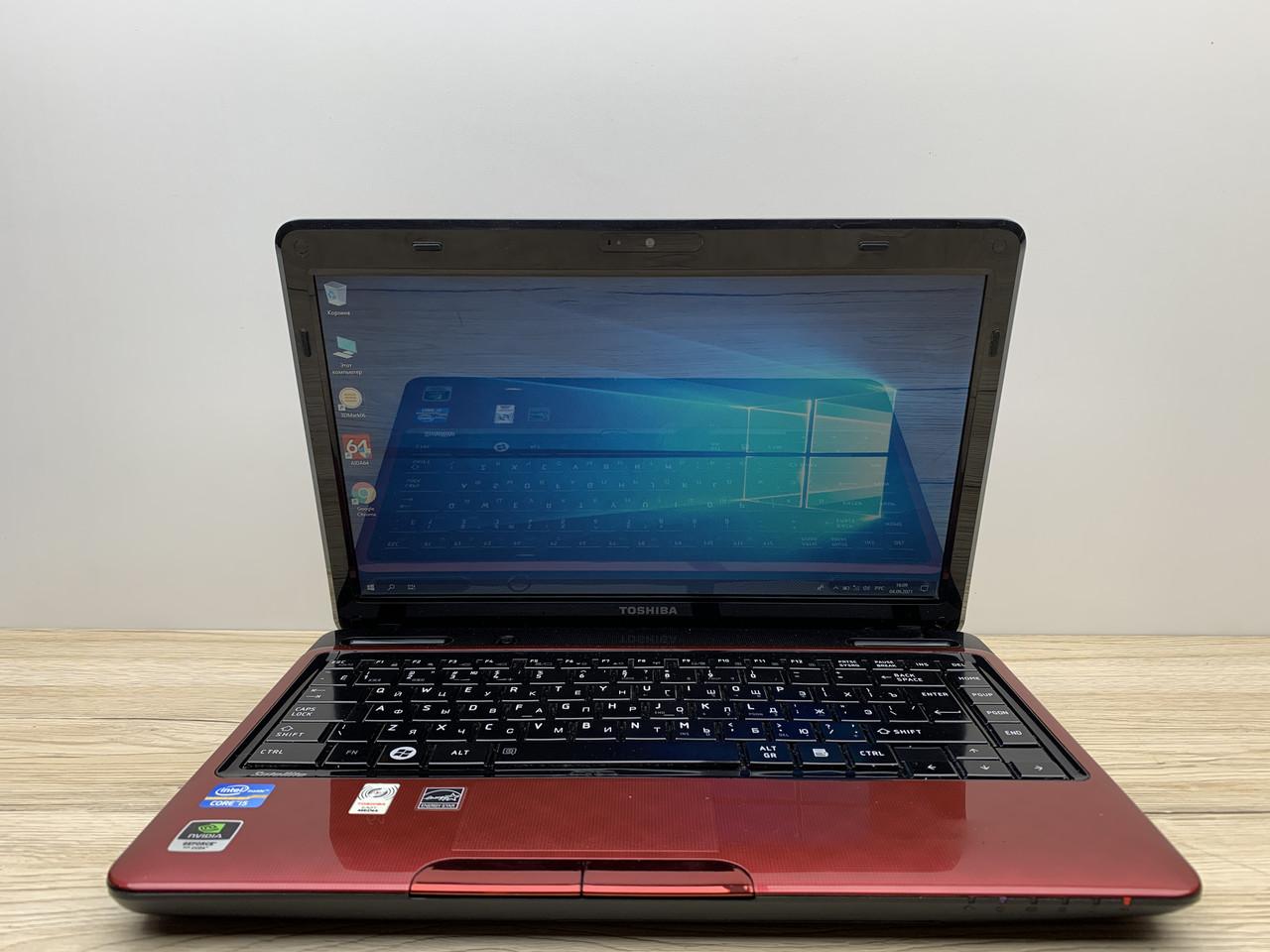 Ноутбук Б/У Toshiba L735-11F 13.3HD/ i5-2410m 2(4) 2.9GHz/ GF315M 1Gb/ RAM 4Gb/ SSD 120Gb/ АКБ 47Wh/ Сост. 8