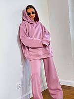 Модный женский спортивный костюм, комплект худи и штаны широкие оверсайз