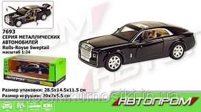 "Машинка 7693 Rolls Royce ""Автопром"", металлопластик, масштаб 1:24, свет, звук, инерция"