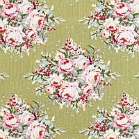 Ткань для рукоделия Tilda Floribunda Green, 481041