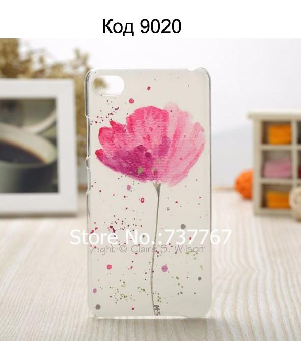 Чехол для lenovo s90 панель накладка с рисунком цветок