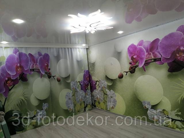 шторы с 3д цветами