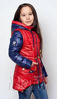 Куртка удлиненная для девочки подростка с капюшоном