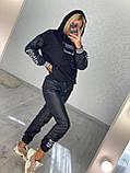 Жіночий турецький костюм з трикотажу і екошкіра Розміри:З,М,Л,ХЛ (повномірні), 2 кольори., фото 3