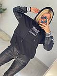 Жіночий турецький костюм з трикотажу і екошкіра Розміри:З,М,Л,ХЛ (повномірні), 2 кольори., фото 4